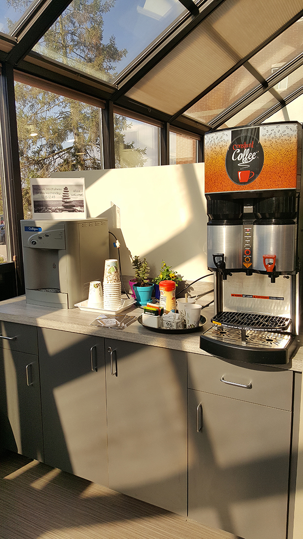 Coffee bar in office area